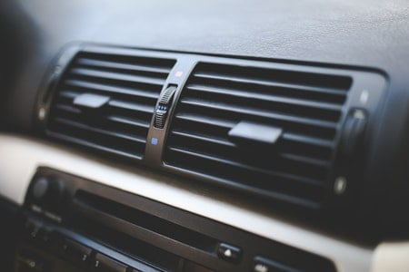 Air Conditioner in Car Blowing Hot Air